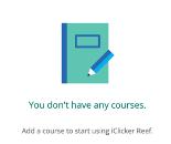 iClicker No Courses