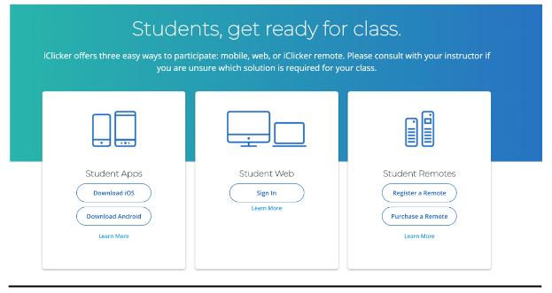 iClicker Student Download Splash Screen