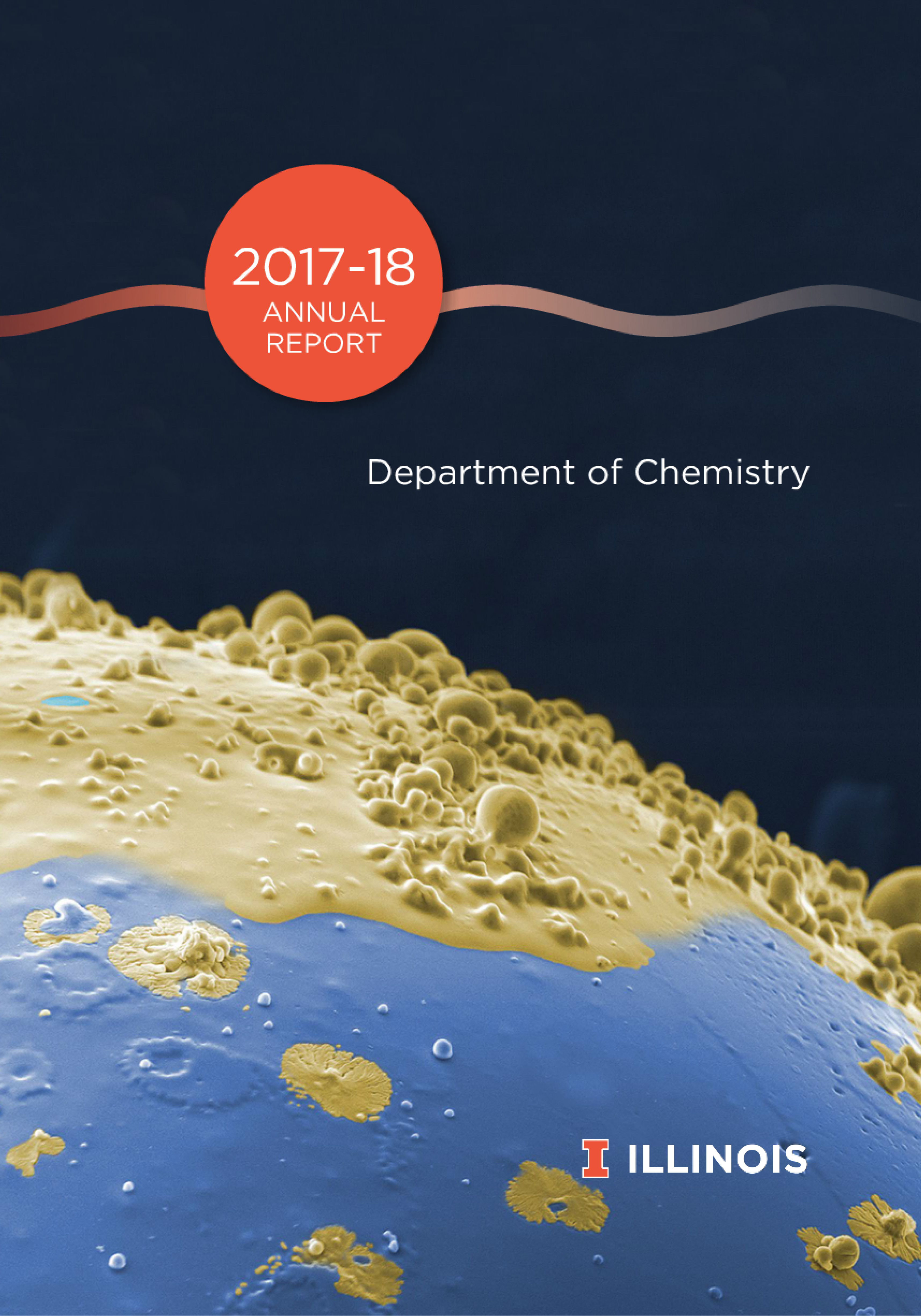 2017-18 Annual Report for the Department of Chemistry cover