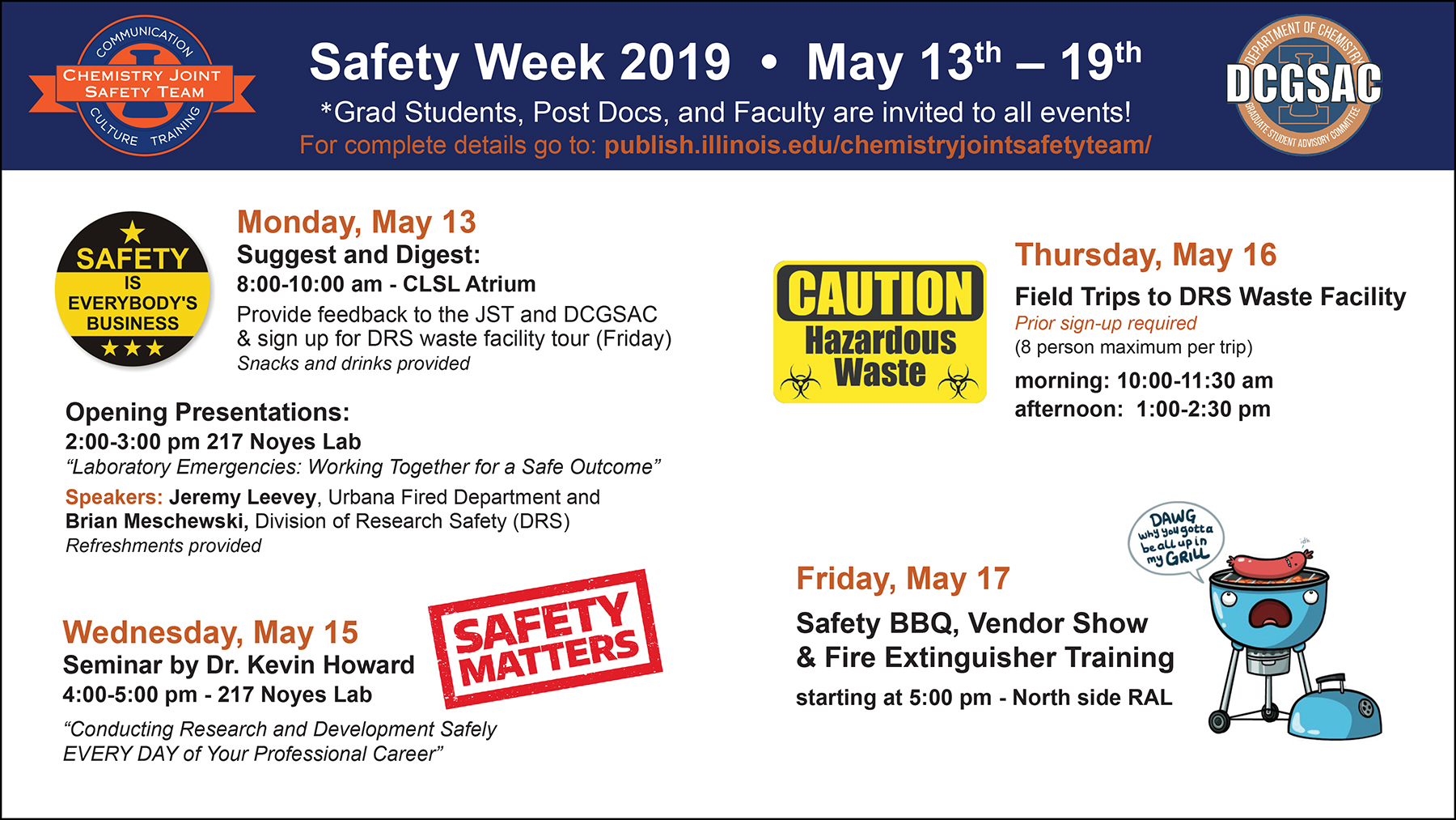 2019 Safety Week digital screen picture
