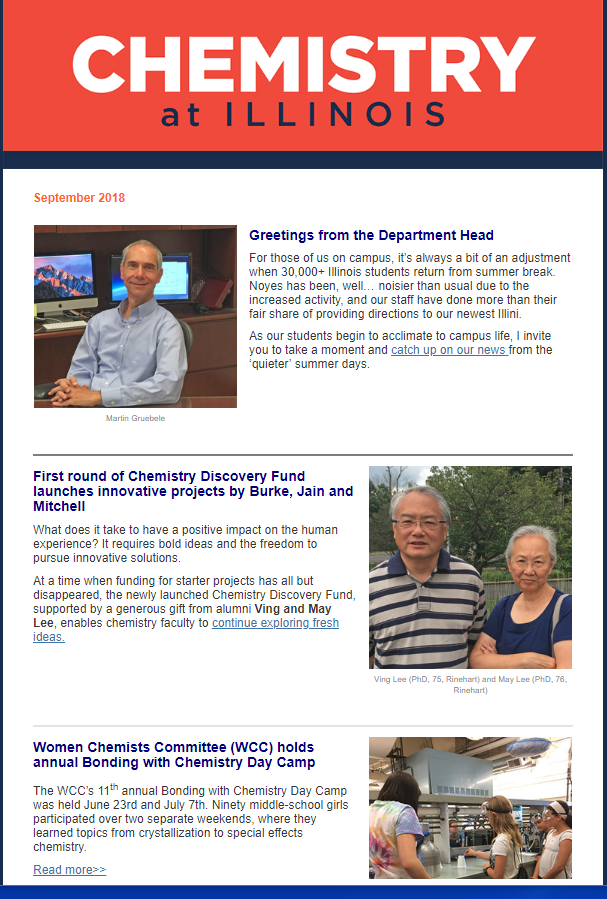 September Chemistry Newsletter