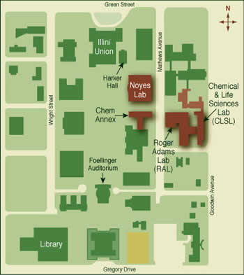 Directions | Chemistry at Illinois on university of illinois urbana map, university of chicago quad map, uiuc map, uic quad map,