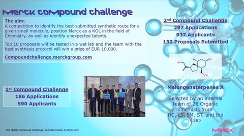 Image of the flyer for the Merck Compound challenge