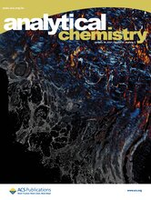 An image of the December 2020 cover of Analytical Chemistry, featuring an image that shows merged vibrational circular dichroism and infrared absorbance images of surgical breast tissue, taken at the same wavelength.