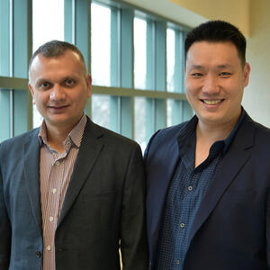 Anuj Yadav, pictured left, and Jefferson Chan