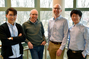 Photo of Hao Yu, Jeff Moore, Charles Schroeder and Songsong Li