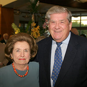 Photo of Connie Springborn standing next to Robert Springborn