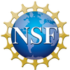 NSF logo which is a blue graphic of the globe and the NSF acronym across it in white letters